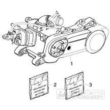 1.02 Motor, těsnění motoru - Gilera Runner 50 PureJet ST 2008 (ZAPC46200)