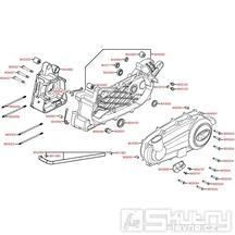 E01 Kryt variátoru / Skříň klikové hřídele - Kymco People S 250i
