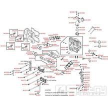 E02 Hlava válce / Ventily - Kymco Xciting 500