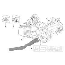 29.22 Motor, těsnění motoru - Scarabeo 50 4T 2V E2 2006-2009 (ZD4TGA, ZD4TGB)