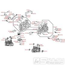 E01 Skříň klikové hřídele - Kymco Maxxer 450i