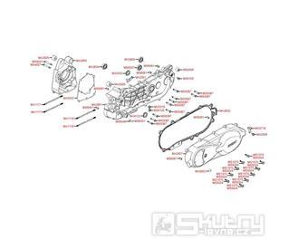 E01 Kliková skříň / Kryt variátoru - Kymco People S 200i