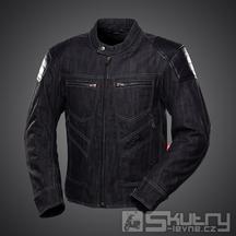 Moto bunda 4SR Rowdie Denim Jacket Black - velikost 56