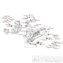 E01 Skříň klikové hřídele - Kymco Super 8 50 2-Takt