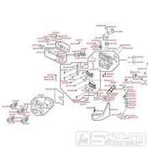 E02 Hlava válce - Kymco Xciting 500i R ABS