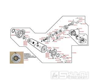 F27 Přední kardan - Kymco MXU 500 IRS DX LOF LAA0ED