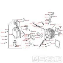 E02 Hlava válce / Ventily - Kymco Super 8 125 [Big Tyre] KL25SF