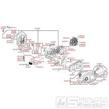 E01 Skříň klikové hřídele - Kymco Xciting 500i EVO SBA0BB