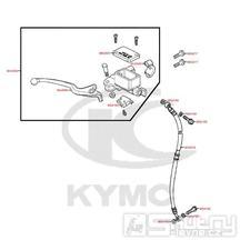 F04 Hlavní brzdový válec přední / Brzdová páčka / Brzdová hadice - Kymco DJ 125 S KN25GA