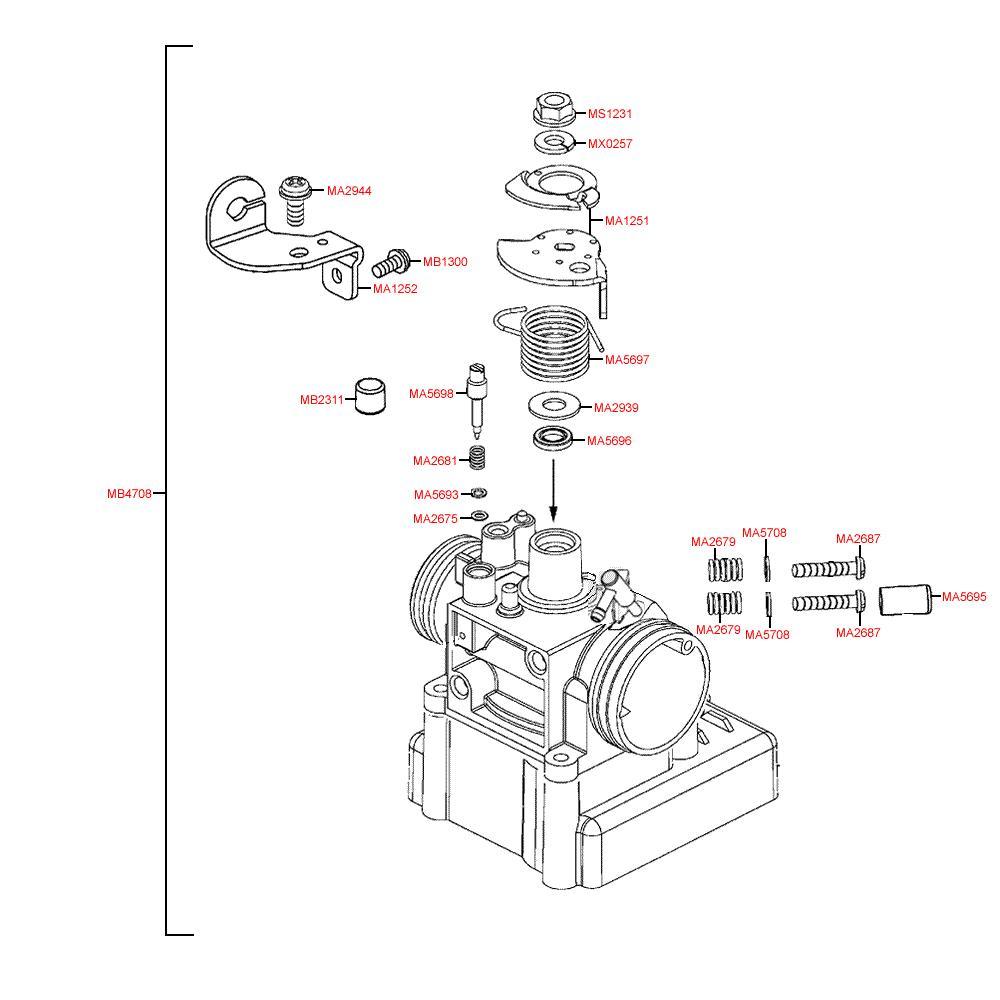 E09 Škrtící klapka - Kymco Grand Dink 125i SP25AA