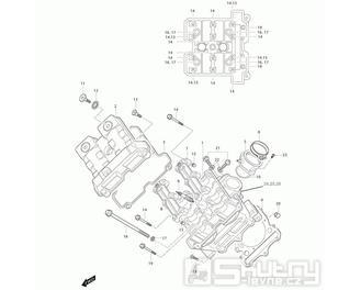 01a Hlava válce přední - Hyosung GT 650i N (Naked)