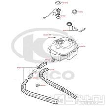 F10 Nádrž / Palivový kohout / Palivový filtr - Kymco DJ 125 S KN25GA