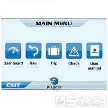 Aplikace pro komunikaci skútru s chytrými telefony - Piaggio X10