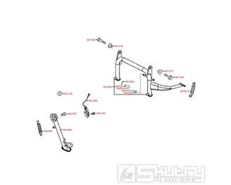 F15 Hlavní stojan, boční stojan a spínač bočního stojanu - Kymco Downtown 300i ABS Verze 30 SK60AF
