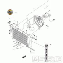 03 Vodní chladič / Ventilátor - Hyosung GT 650 S & R