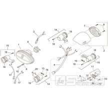 28.28 Světla, blinkry - Scarabeo 100 2T (motor Minarelli) 2000 - ZD4REA...