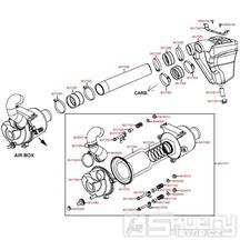 Vzduchový filtr - Kymco MXU 450i LC90AE
