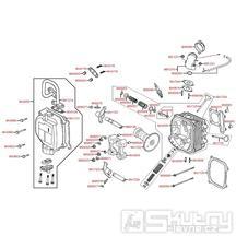 E02 Hlava válce / ventily - Kymco Agility 125 MMC