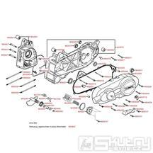 E01 Kryt variátoru / Skříň klikové hřídele - Kymco Grand Dink 125 [SH25DA]