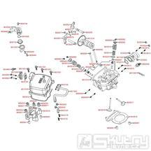 E02 Hlava válce / Ventily - Kymco Maxxer 250