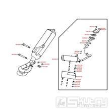 F15 Výfuk - Kymco Vitality 50 2T