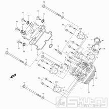 01v Hlava válce přední - Hyosung GT 125 N (Naked)