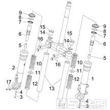 4.03 Přední kyvná vidlice (Kayaba) - Gilera Runner 200 VXR 4T LC 2005-2006 (ZAPM46200)