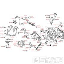 E02 Hlava válce / Ventily - Kymco Grand Dink 125S [SH25DH]