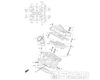 01h Hlava válce zadní - Hyosung GT 650i ND