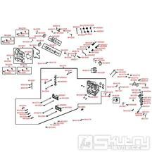 E02 Hlava válce a rozvod ventilů - Kymco UXV 500