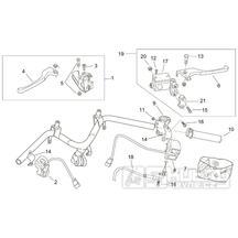 28.20 Brzdové páčky, přepínače - Scarabeo 100 2T (motor Minarelli) 2000 - ZD4REA...