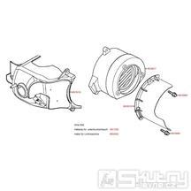 E01 Ventilátor / Kryt válce - Kymco MXer 50