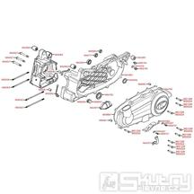E01 Skříň klikové hřídele / Kryt variátoru - Kymco Xciting 250i AFI [SB50AD]
