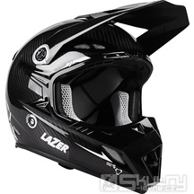Off-road přilba Lazer MX8 X-Line - Black carbon/White