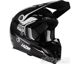 Off-road přilba Lazer MX8 X-Line - Black carbon/White - velikost XXS