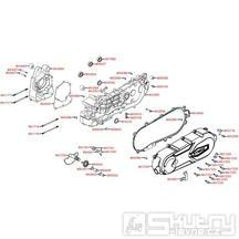 E01 Skříň klikové hřídele / kryt variátoru - Kymco Super 8 125