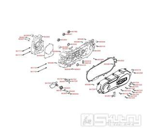 E01 Kliková skříň / Kryt variátoru - Kymco Super 8 125 [Big Tyre] KL25SF