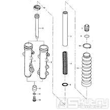 F07 Přední vidlice - Kymco STRYKER 125