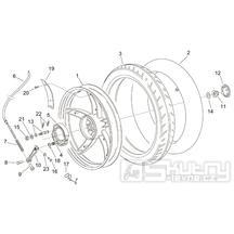 28.27 Zadní kolo - Scarabeo 100 2T (motor Minarelli) 2000 - ZD4REA...