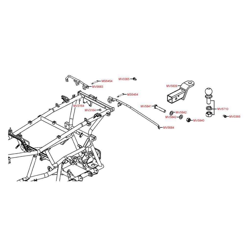 F30 Závěsné zařízení - Kymco MXU 500 IRS DX LOF LAA0ED