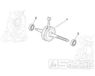 29.32 Kliková hřídel - Scarabeo 50 4T 2V E2 2006-2009 (ZD4TGA, ZD4TGB)