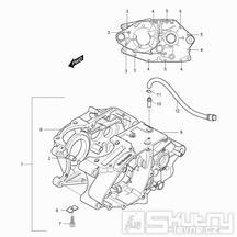 03 Skříň klikové hřídele - Hyosung RX 125 (XRX 125)