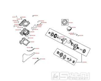 E03 Válec a kliková hřídel - Kymco MXU 500 IRS DX LOF LAA0ED
