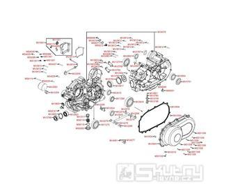 E01 Kliková skříň a kryt variátoru - Kymco MXU 500 IRS DX LAA0DD