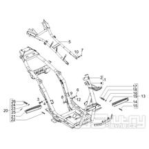 2.01 Rám, stupačky - Gilera Runner 125 VX 4T 2006-2007 UK (ZAPM46300)