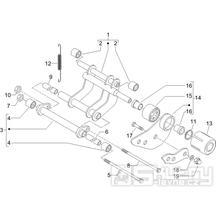 """4.01 Uložení motoru - Gilera Runner 125 """"SC"""" VX 4T 2006 UK (ZAPM46300)"""