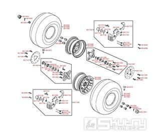 F07 Přední kola, brzdiče a náboje - Kymco MXU 250 R LG50AE/AD