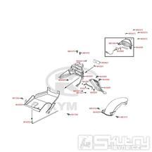 F18 Zadní světlo / Zadní blatník - Kymco DJ 125 S KN25GA