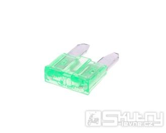 Nožová pojistka 11,1mm - 30A zelená