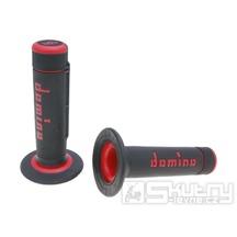 Gripy Domino A020 Off-Road v černo-červeném provedení o délce 118mm